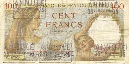 billet de banque france 1950