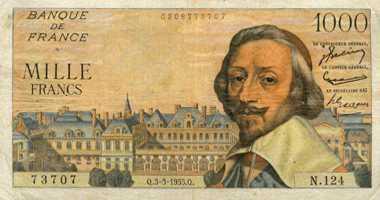 billet de banque ancien francs