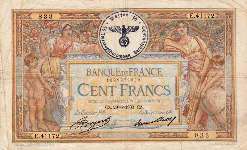 billet de banque tamponne