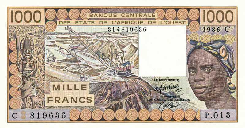 billet de banque 1000 francs