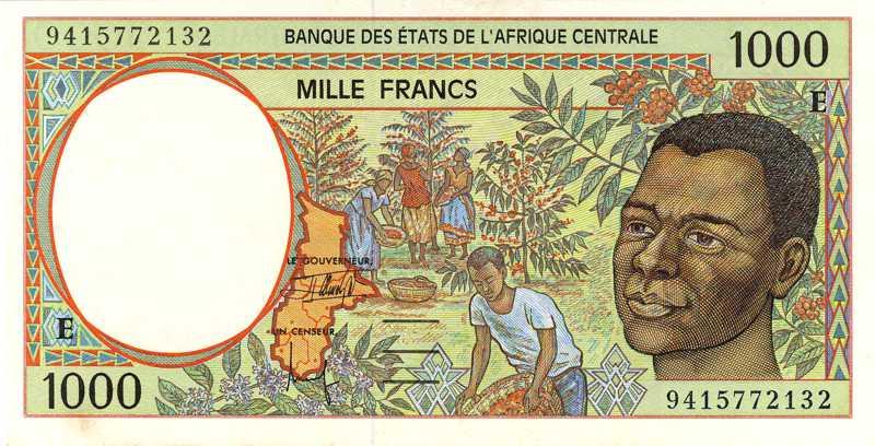 billet de banque cameroun