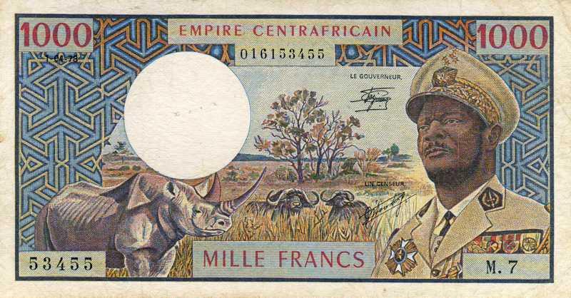 Billet de banque - Centrafrique - Pick 6 - 1000 francs