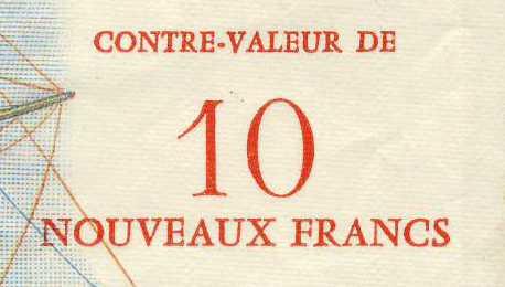 billet de banque la r union pick 54 10 nouveaux francs sur 500 francs. Black Bedroom Furniture Sets. Home Design Ideas